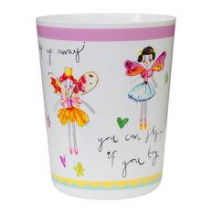 Creative Bath Products, Inc.   Faerie Princess Wastebasket   Kids Bathroom  Accessories