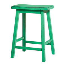 Gaucho Stools Set Of 2 Green Counter Height