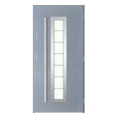 Hevelius Outside Door With Window, Light Anthracite, 100 cm