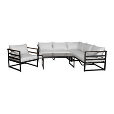 Noble Cove 5-Piece Outdoor Seating Set Stone Grey