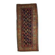 Consigned, Handmade Caucasian Gendje Rug 3.5'x7.3', 106cmx222cm, 1880S