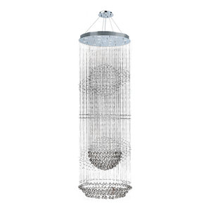 Modern Galaxy 13-light Chrome Finish Crystal Chandelier Two 2 Tier