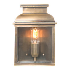 Old Bailey Wall Lantern, Aged Brass