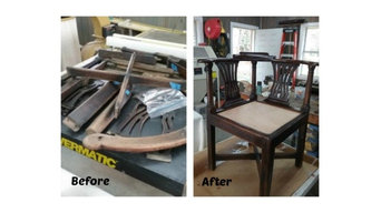 Restoration of antique corner chair