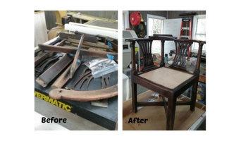 Restoration of antique corner chair