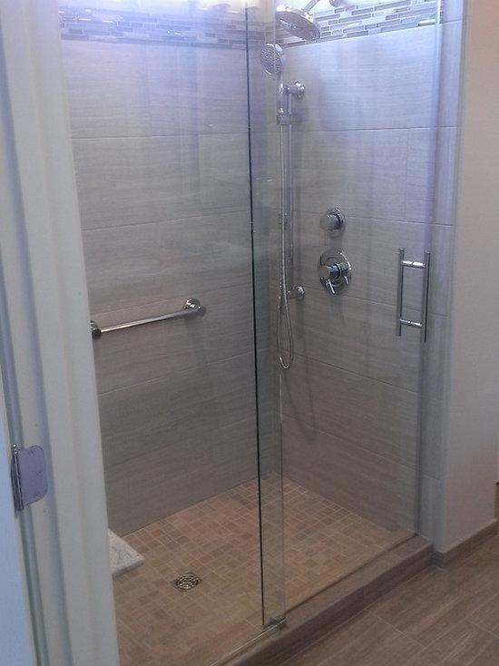 master bathroom 12 quot  x 24 quot  wall  gray    floor  taupe 6 X 24 Floor Tiles in Bathroom 12x24 bathroom floor tiles ideas