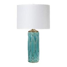 Tabitha Table Lamp, Turquoise Ceramic