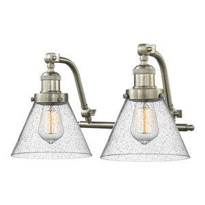 "Innovations Lighting 515-2W Large Cone Large Cone 2 Light 18"" Wide Bathroom Van"