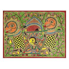Durgas Marriage Madhubani Painting
