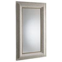 Global Views Toile Linen Floor Mirror - Silver