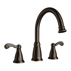 Moen Traditional Mediterranean Bronze Two-Handle Roman Tub Faucet T624BRB