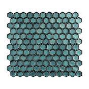 "11""x11.5"" Kaftan Mosaic Tile, Canadian Sky"