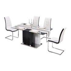 Furniture Import U0026 Export Inc.   Marilyn Rectangular Dining 5 Piece Set,  White
