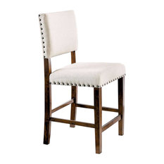 Glenbrook Counter Height Chair, Brown Cherry Finish, Set Of 2