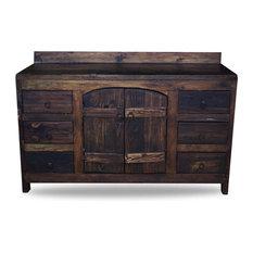 Old World Reclaimed Barnwood Vanity Dark Walnut 48-inchx20-inchx32-inch Vanity Only