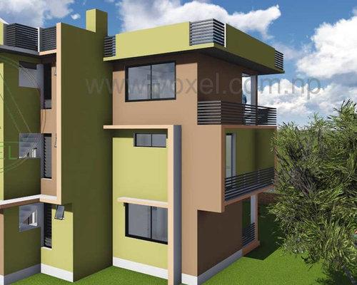 Modern nepal home design ideas photos for Small house design nepal