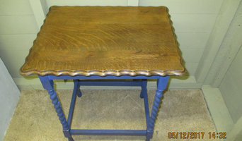 Re -worked Consul table with barley twist legs