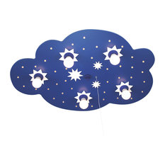 Starry Cloud Ceiling/Night Light, Blue, 5 Bulbs