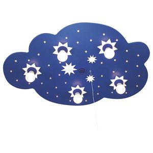 Starry Cloud Ceiling/Night Light, Blue, 5 Bulbs