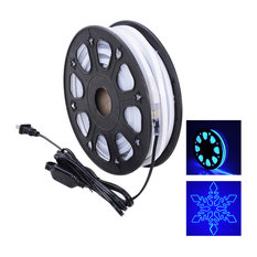 50' Dual Side Led Neon Rope Light, Outdoor, Blue