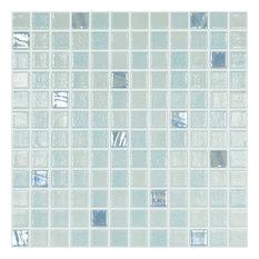 "12.5""x12.5"" Aquamarine 111, 750 Glass Tile"