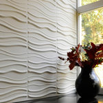 "WallArt - 3D Wall Panels, Sands, Sample - Textured Wall Coverings that will transform your interior walls with depth and create an amazing looking feature wall. The wall panels are made of natural plant fiber and are flexible, lightweight, paintable and easy to install. All our wall panels are sold in the natural off white color and therefore are paintable. Size is 19.68""x19.68"", 12 panels / box. Give your focal wall the Wow factor with our 3D wall panels."