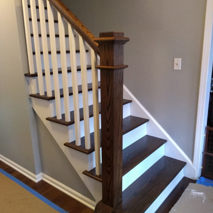 Modern Craftsman Staircase upgrade