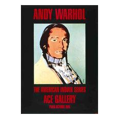 Andy Warhol, American Indian (Black), 1976, Artwork