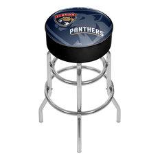 NHL Chrome Bar Stool With Swivel Watermark Florida Panthers