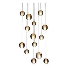 Orion 14-Light Floating Glass Globe LED Chandelier