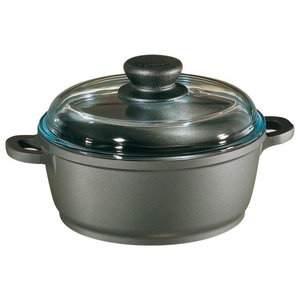 Tradition Dutch Oven w High Dome Glass Lid in Black, 4.25 qt.
