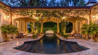 Chateau swim through pool