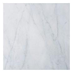 """12""""x12"""" Italian Carrara Venato Tile Polished and Beveled"""