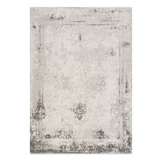 """Vintage Abstract Bleached Rug, Gray, 7'6""""x9'6"""""""