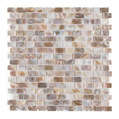 Seashell Subway Mosaic Wall Tile, Natural