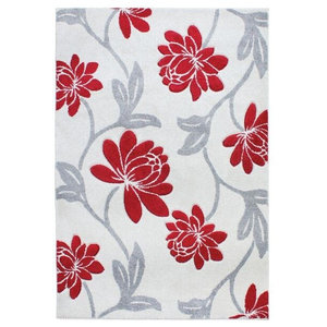Vogue VG41 Rug, Red and Grey, 200x290 cm