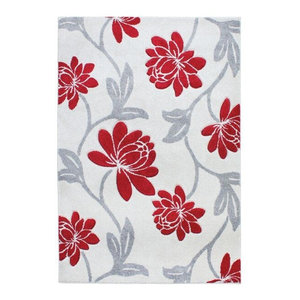 Vogue VG41 Rug, Red and Grey, 80x150 cm