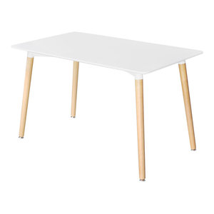 VidaXL Matte White Rectangular Dining Table