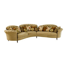 Curved Sectional Sofas Houzz