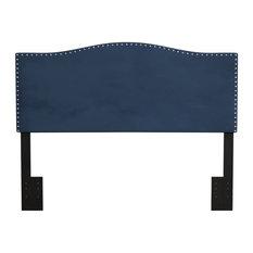 Hillsdale Furniture Kiley Upholstered Full/Queen Headboard Blue Velvet
