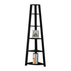 Monarch Specialties I 2499 71 Tall 5-Tier Wood Bookcase, Black by Monarch Specialties