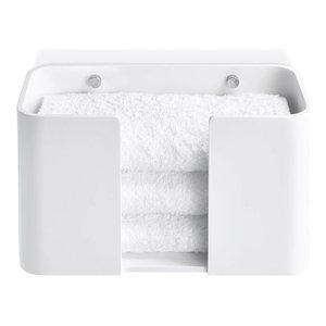 Stone Towel Holder, Matte White