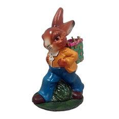Ino Schaller Walking Easter Bunny Rabbit With Basket German Paper Mache