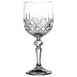 Decorative Lattice Lead Crystal Wine Glasses, Set of 6