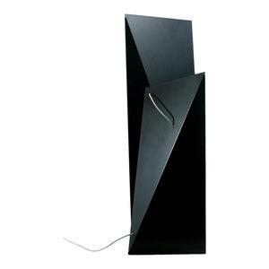 Geometric Steel Floor Lamp, Black