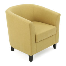 GDFStudio   Prescott Tub Design Club Chair, Yellow Green Fabric   Armchairs  And Accent Chairs