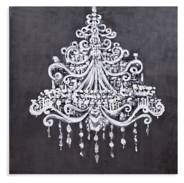 Dramatic chandelier canvas artwork contemporary prints and dramatic chandelier canvas artwork aloadofball Gallery