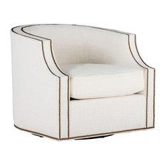 Gabby Willow Swivel Club Chair, Cream Zulu Vanilla
