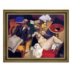 "Roger De la Fresnaye Married Life - 21"" x 28"" Framed Premium Canvas Print"