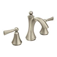 "Moen Wynford Widespread Bathroom Faucet, 8""x5""x7"", Brushed Nickel"
